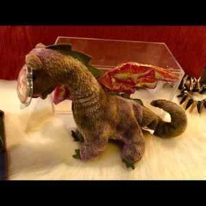 Rare Retired Beanie Baby - Scorch Dragon 1999
